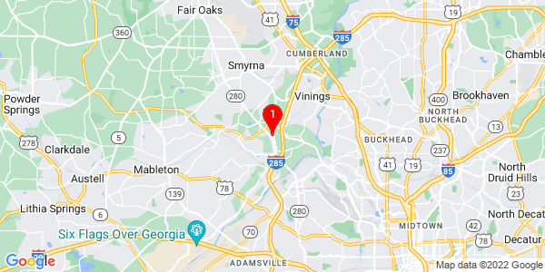 Google Map of 4776 Blue Elm Lane Smyrna, GA 30080