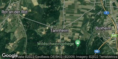 Google Map of Tannheim