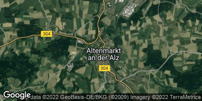 Google Map of Altenmarkt an der Alz