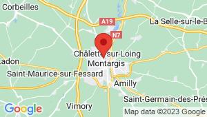 Carte de localisation du centre de contrôle technique Chalette sur Loing