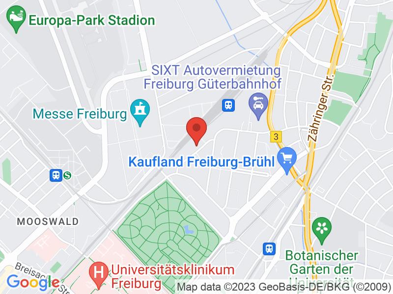 Map of Lokhalle Freiburg