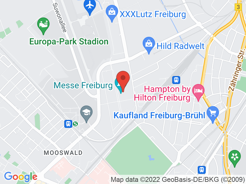 Map of Messe Freiburg