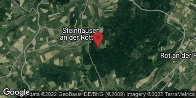 Google Map of Steinhausen an der Rottum