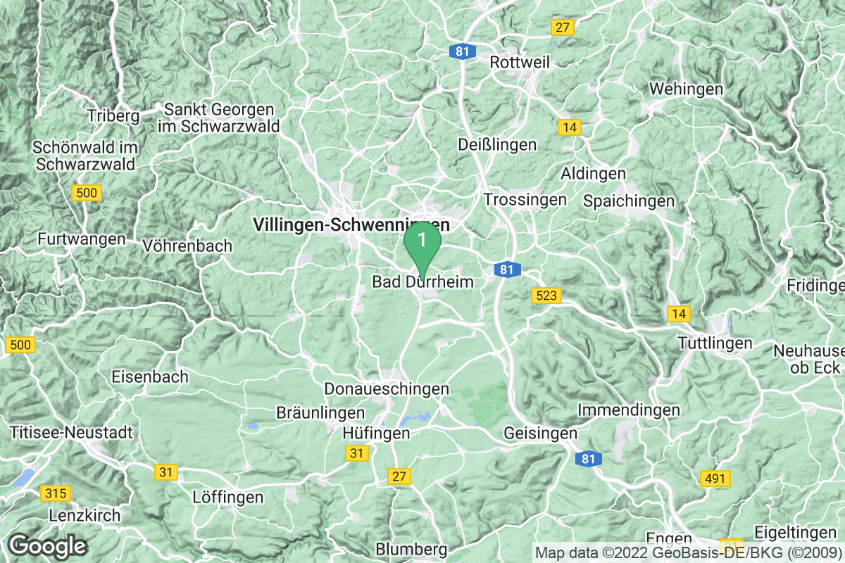 Google Map of Bad Dürrheim