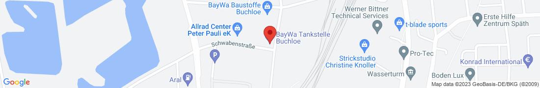 BayWa Tankstelle Buchloe Anfahrt