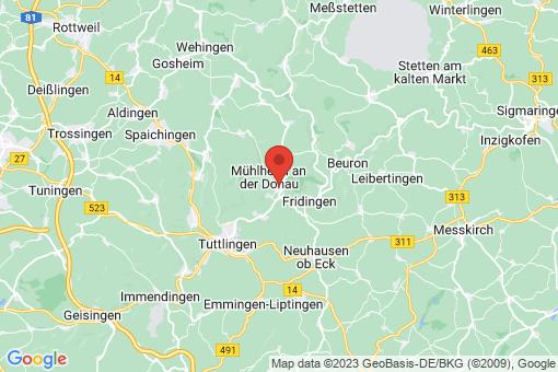 Karte Mühlheim an der Donau