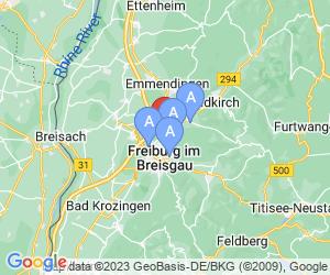 Karte für B&B Hotel Freiburg-Nord
