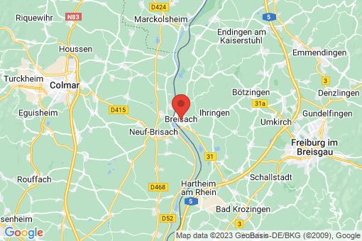 Karte Breisach am Rhein