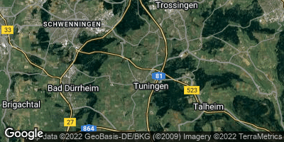 Google Map of Tuningen