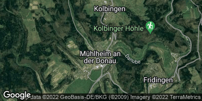 Google Map of Mühlheim an der Donau