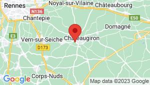 Carte de localisation du centre de contrôle technique CHATEAUGIRON