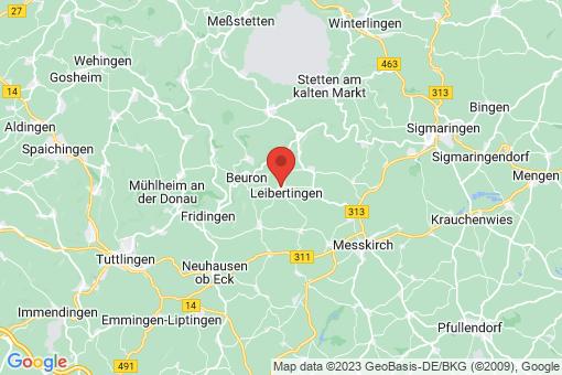 Karte Leibertingen