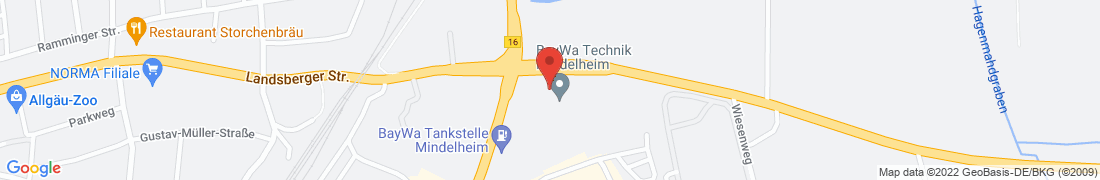 BayWa Tankstelle Mindelheim Anfahrt
