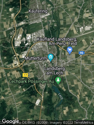 Google Map of Landsberg am Lech