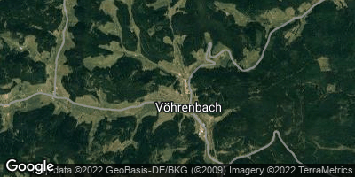 Google Map of Vöhrenbach