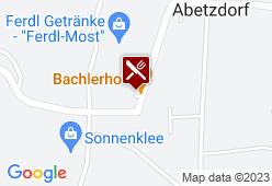 Landgasthaus Bachlerhof - Karte