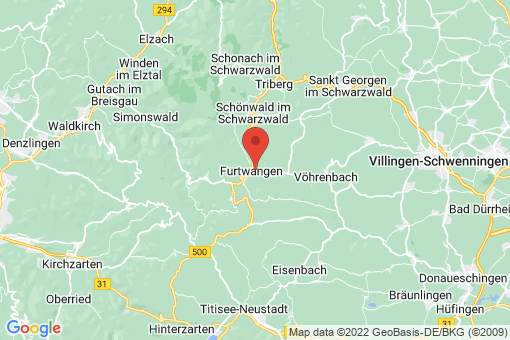 Karte Furtwangen im Schwarzwald