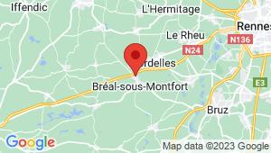Carte de localisation du centre de contrôle technique Breal sous Monfort