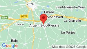 Carte de localisation du centre de contrôle technique ARGENTRE DU PLESSIS