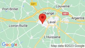 Carte de localisation du centre de contrôle technique Saint Berthevin