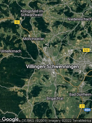 Google Map of Villingen-Schwenningen