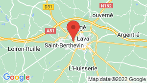 Carte de localisation du centre de contrôle technique Laval