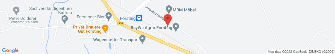 BayWa Agrar Forsting Anfahrt