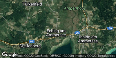 Google Map of Eching am Ammersee