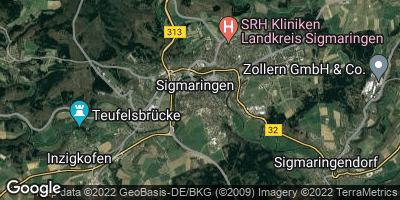 Google Map of Sigmaringen