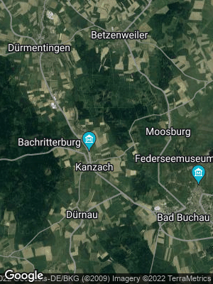 Google Map of Kanzach bei Bad Buchau