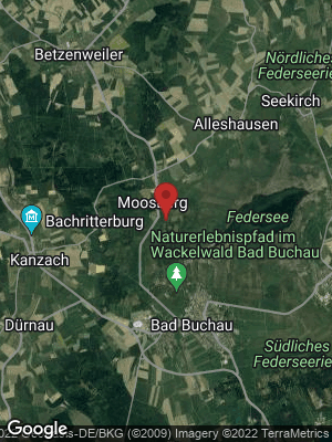 Google Map of Moosburg bei Bad Buchau