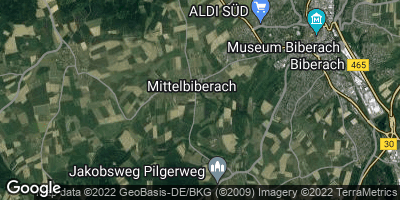 Google Map of Mittelbiberach