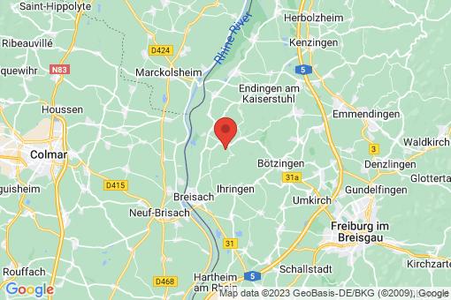 Karte Vogtsburg im Kaiserstuhl