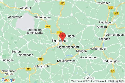 Karte Sigmaringen