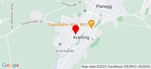 Google Map für Monteurwohnungen in Krailling  Villa & Penthouse