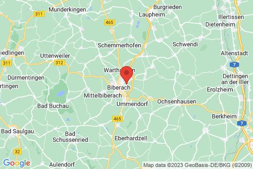 Karte Biberach an der Riß Bergerhausen