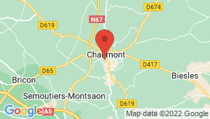 Carte de localisation du centre de contrôle technique CHAUMONT