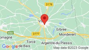 Carte de localisation du centre de contrôle technique VITRE
