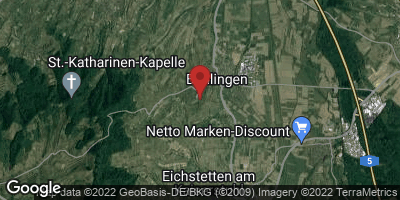 Google Map of Bahlingen am Kaiserstuhl