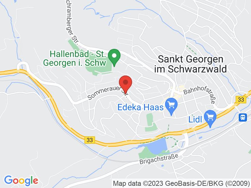 Map of Technologiezentrum St. Georgen GmbH