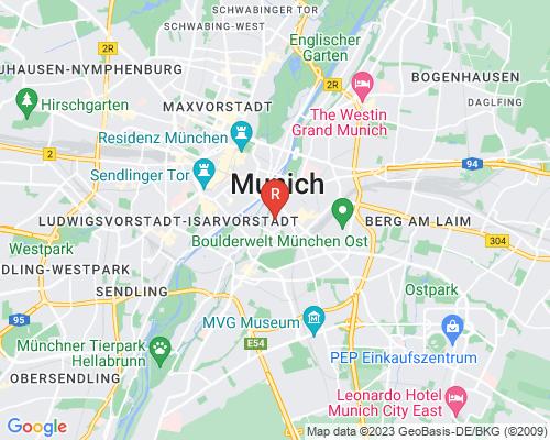 Google Karte von Rohrreinigung München