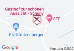 """Gasthaus Schöny """"zur schönen Aussicht"""" - Karte"""