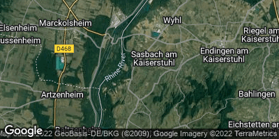 Google Map of Sasbach am Kaiserstuhl