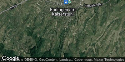 Google Map of Endingen am Kaiserstuhl