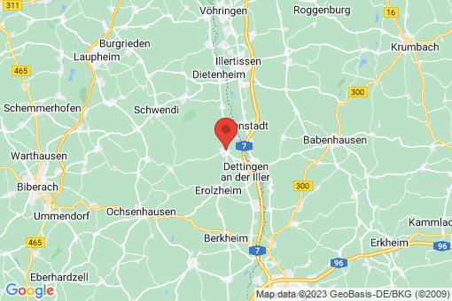 Karte Kirchberg an der Iller