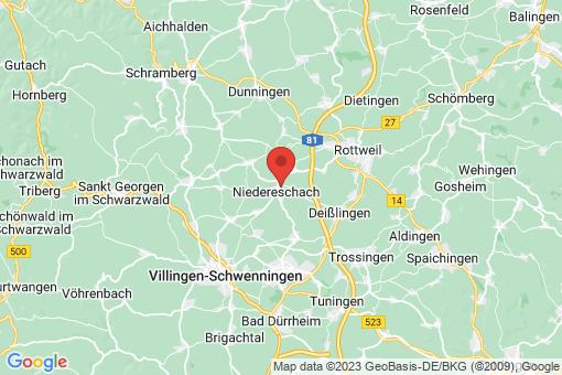 Karte Niedereschach