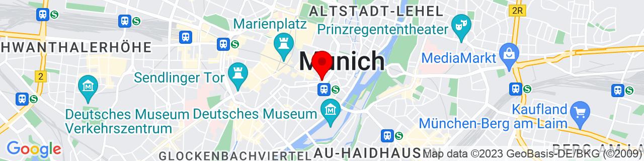 Google Map of 48.1351253, 11.581980499999986