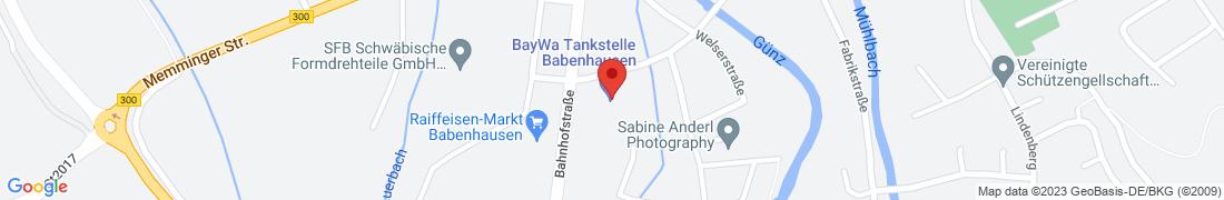 BayWa Tankstelle Babenhausen Anfahrt