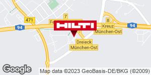 Wegbeschreibung zu Hilti Store München-Feldkirchen