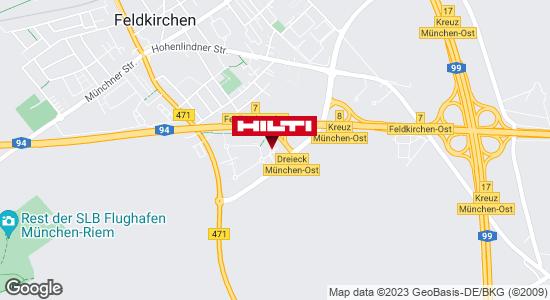 Get directions to Hilti Store München-Feldkirchen